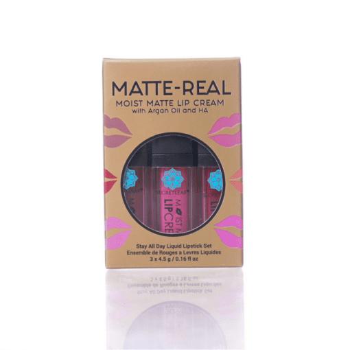 Matte-Real Moist Matte Lip Cream Set - Secretleaf Skin Beauty