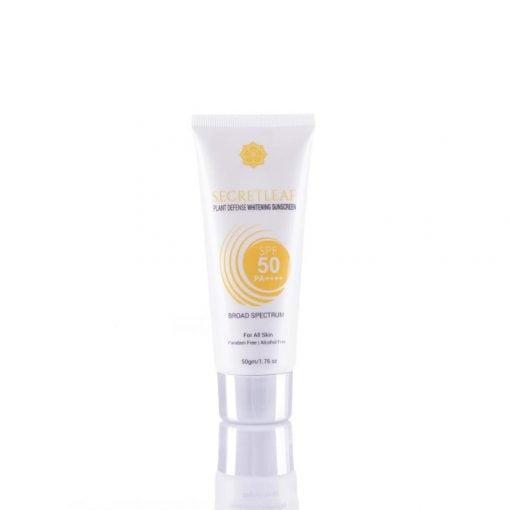 Plant Defense Whitening Sunscreen SPF50/PA++++ Broad Spectrum 50gm - Secretleaf Skin Beauty